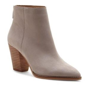 Lucky Brand Adalan Booties in Chinchilla Leather